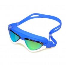 Biało niebieskie okulary pływackie na basen Legend MC1560