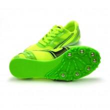 Zielone buty lekkoatletyczne z kolcami do biegów i skoków na bieżni Legend