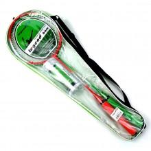 Zestaw do badmintona 2 rakietki + 3 lotki w pokrowcu Legend