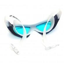 Niebieskie okularki pływackie typu maska Legend