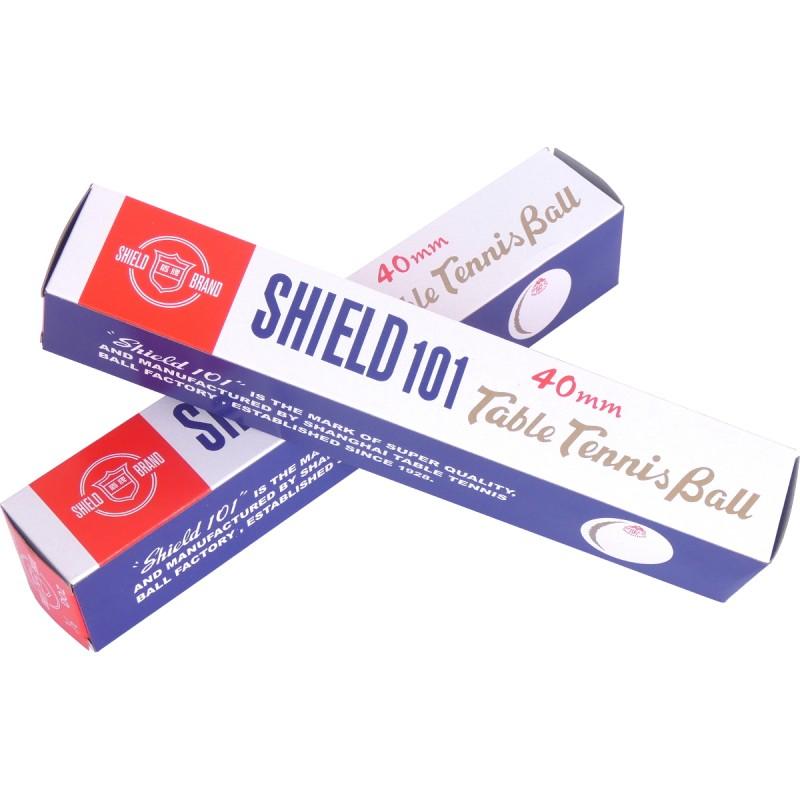 Piłeczki do tenisa stołowego Shield 101 białe 6 szt