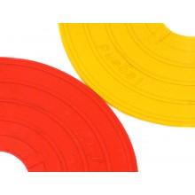 Zestaw 24 żółtych markerów znaczników podłogowych Legend