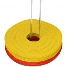 Zestaw 12 żółtych markerów znaczników podłogowych Legend