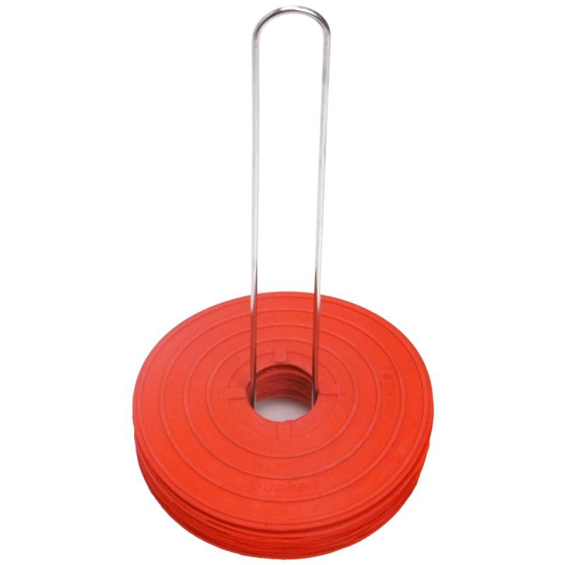 Zestaw 12 czerwonych markerów znaczników podłogowych Legend
