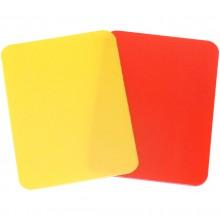 Kartki sędziowskie żółta i czerwona zestaw Legend