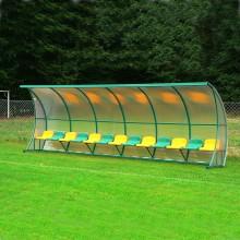 Wiata stadionowa W-5 pokryta poliwęglanem litym brązowym