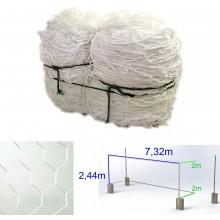 Siatka na bramkę do piłki nożnej 7,5 x 2,5 m heksagonalna plaster miodu