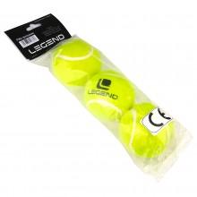 Piłki tenisowe zielone 3 szt Legend