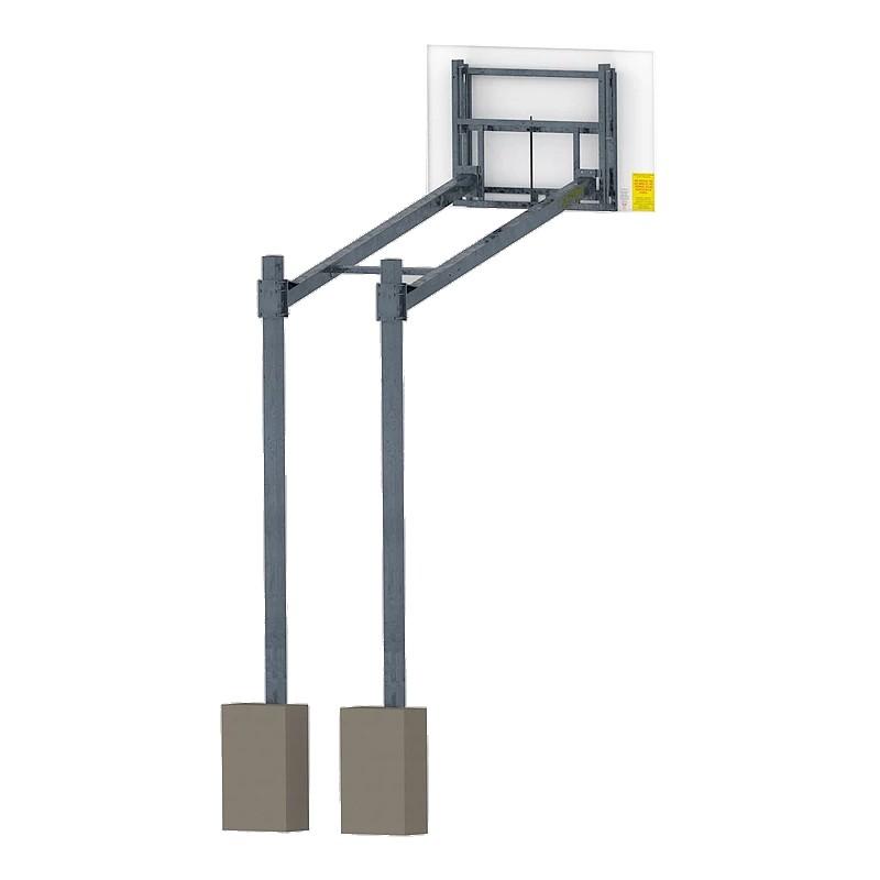 Kosz do koszykówki z tablicą stalową obręczą i siateczką