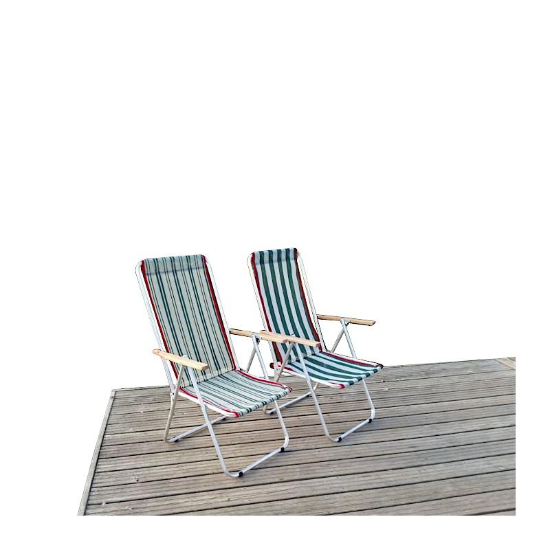 Fotel turystyczny dwupozycyjny z aluminium