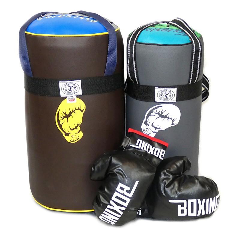 Zestaw małych worków bokserskich dla dzieci z rękawicami Legend