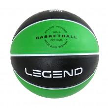 Piłka do kosza BB500 8 paneli zielono-czarna Legend