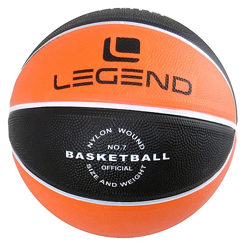 Piłka do koszykówki BB700 rozmiar 7 czarno-pomarańczowa Legend