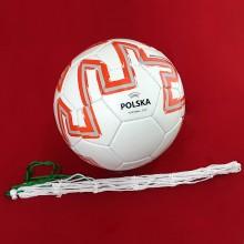 Piłka nożna Polska z siatką na piłkę w zestawie Legend