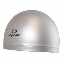 Srebrny czepek pływacki silikonowo-materiałowy marki Legend