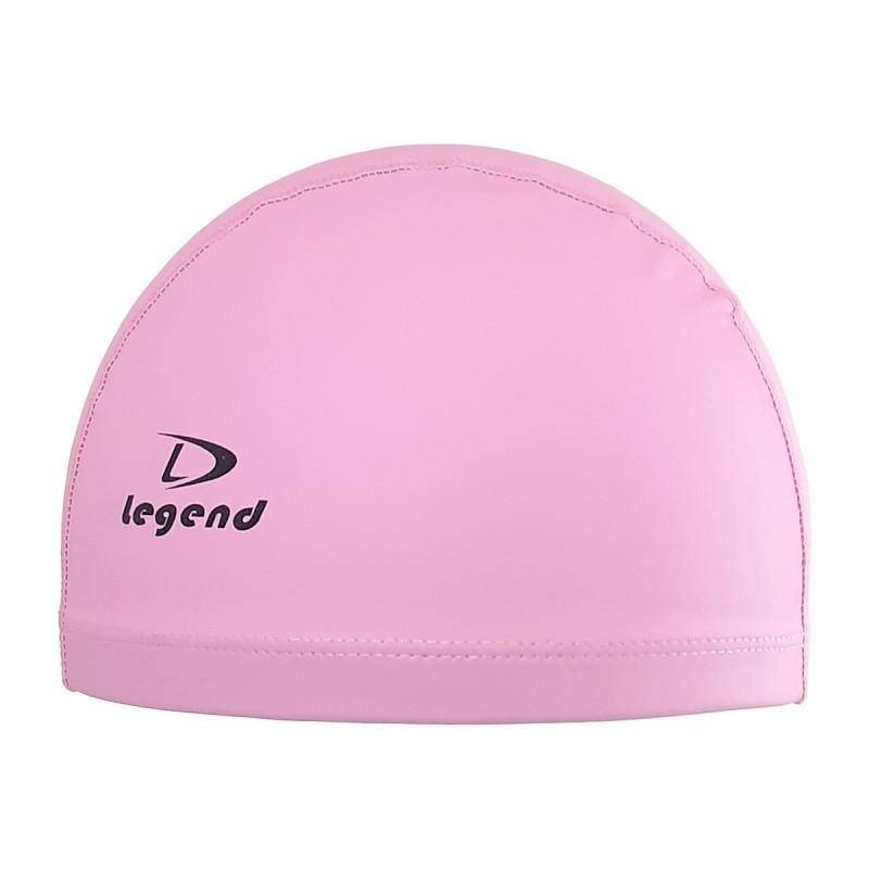 Różowy czepek pływacki dwuwarstwowy różowy Legend